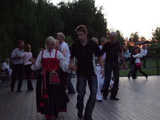 Swedish dance (gammaldans) in the summer evening. Bjur�kerst�mman 2007